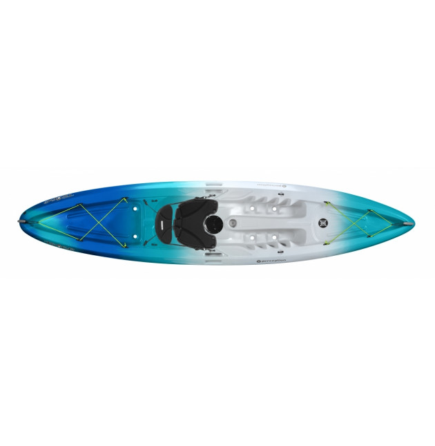 Premium Single Kayak Rental w/ seats Perception Tribe 11.5 ft