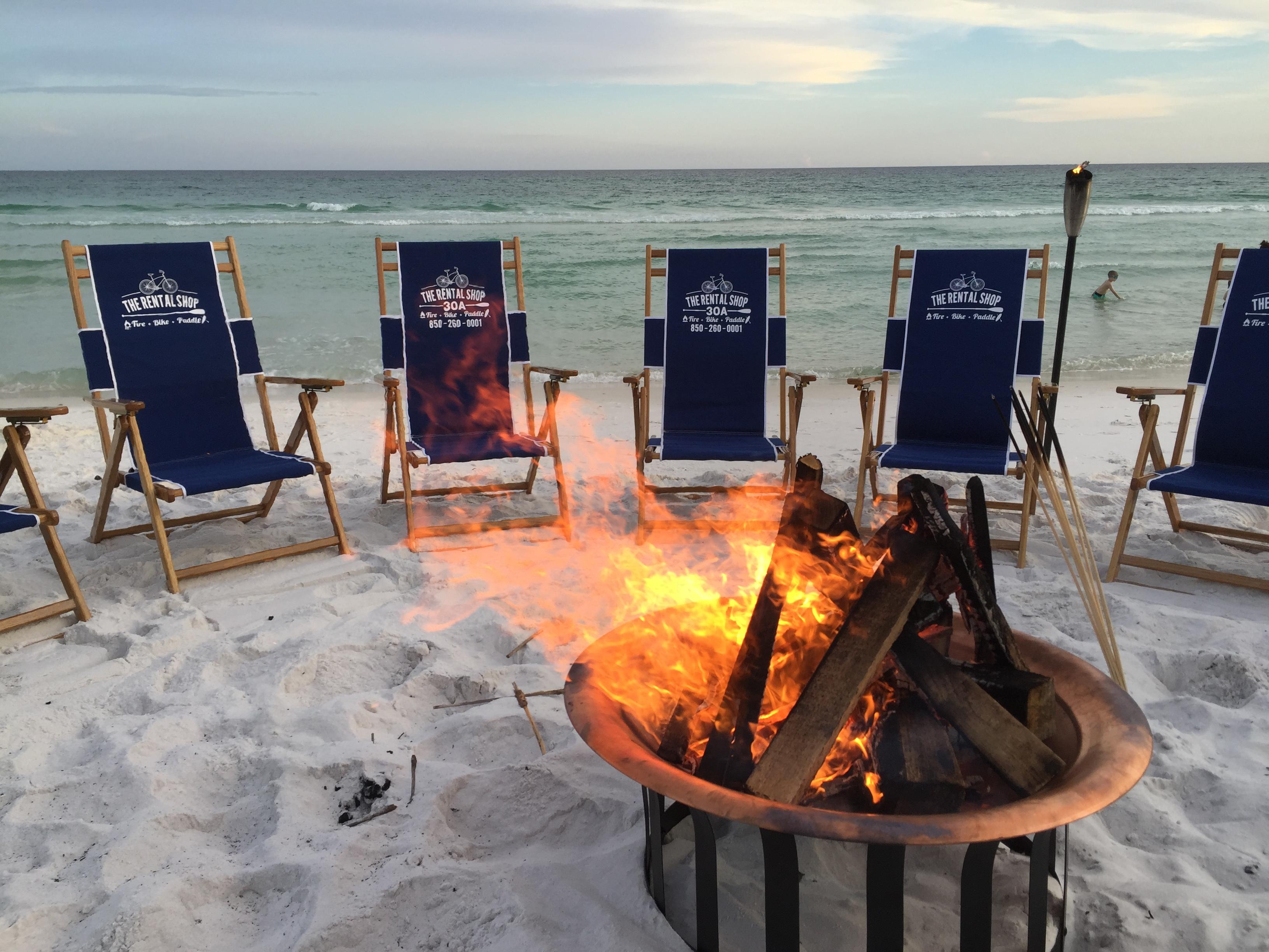 Santa Rosa Beach Bonfire