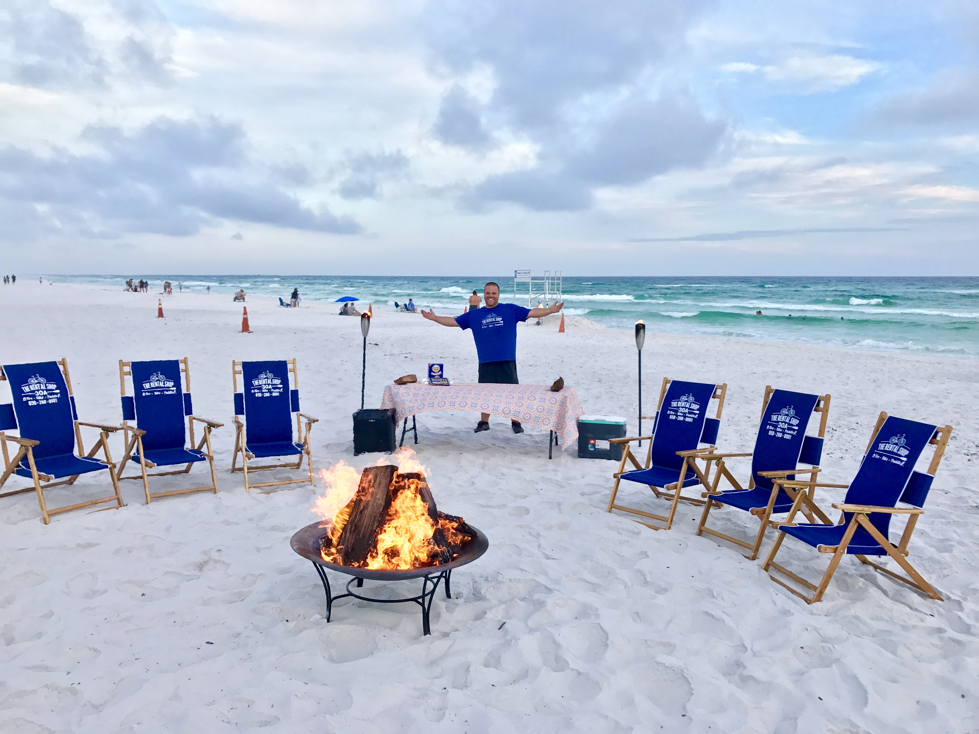 DESTIN & SANTA ROSA BEACH BONFIRES THE RENTAL SHOP 30A